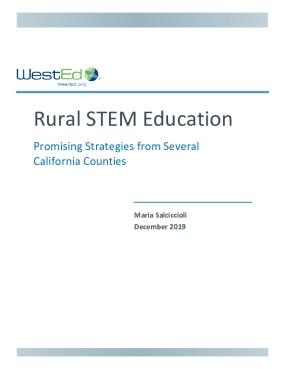 Rural STEM Education: Promising Strategies from Several California Counties